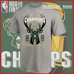 HOT NEW!! Milwaukee Bucks 2021 NBA Finals Champions T-shirt
