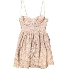 TOPSHOP • Size 6 • Corset Lace Blush/Nude Strap A-line Flare Skater Party Dress