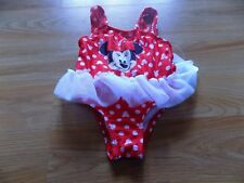 Size 12 Months Disney Minnie Mouse Red White Tutu Swimsuit Swim Bathing Suit New