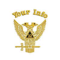 Freemason Masonic Scottish Rite Custom Embroidered Polo Shirt Embroidered gift