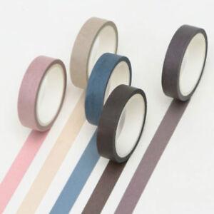 5 Writable Rolls Paper Washi Masking Tape Scrapbooking Masking Sticky Adhesive
