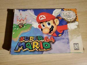 Super Mario 64 (Nintendo 64, 1996) Complete game cartridge, manual, box