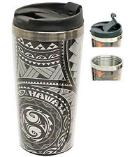 Hawaiian Stainless Steel Travel Mug Tumbler Honu Tapa Coffee Islands Hawaii NIB