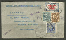 * OSBURGH – USA / GERMANY. 1940. WW2 CENSORED AIR MAIL COVER VIA PORTUGAL. HENNI