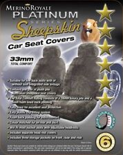 Sheepskin Car Seatcovers for Mercedes Benz, Airbag Safe , 33mm TC ,5 Colours.