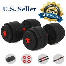 Adjustable Weight Full Iron Dumbbell Fitness Gym Home With  Plates Barbell Cast