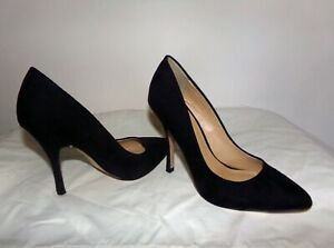 Asos  Pasha ladies size 7 black suede shoes stiletto heels