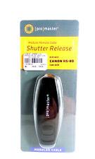 Pro Master Modular Remote Cable Shutter Release Canon RS-80 Code 6608 Black New