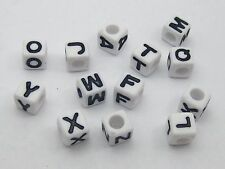 CrossBones Cube Acrylic Beads 13mm Jewelry Making 20pcs White with Black Skull