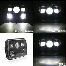 "1x Black 7 X 6"" Square Cree LED Headlights Projector H4 for Jeep Cherokee Trucks"