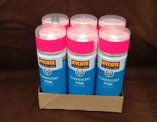 6 x 400ml Fluorescent Pink Spray Paint Bright Striking Finish Quick Drying