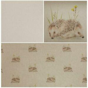 Chatham-Glyn Hedgehog Linen-Look Fabric Cushions Panels,Small All Over And Plain