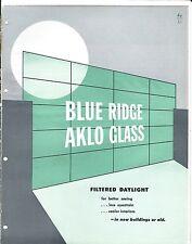 MRO Brochure - Blue Ridge Aklo Glass - Window - c1952 (MR76)