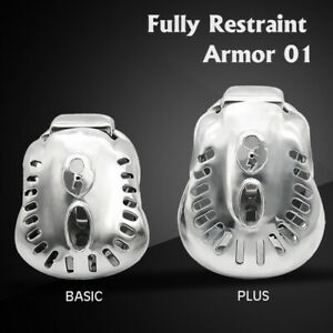 New Arrival Stainless Steel Male Fully Restraint Bowl Chastity Device ARMOR 01