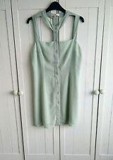 Glamourous Mint green chiffon strappy choker sleeveless shirt top 12