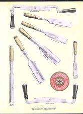1910 ADVERT Diamond Edge Draw Knife Tool Chisel COLOR