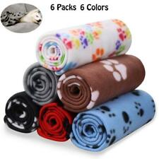 6 Pack Pet Blanket Warm Dog Cat Blankets Sleep Mat Bed Cover Small Pets 24x28 in