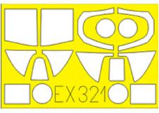 MASK for Spitfire Mk. I (AIRFIX), EX321, 1:48, Eduard