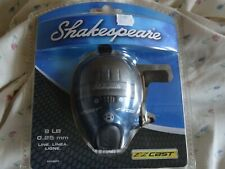 NEW BLUE Shakespeare EZCast 8B Real Fishing Reel with 8 lb line