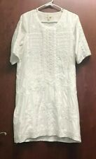 Meadow Rue Anthropologie White Dress Size XS Short Sleeve Scoop Neck