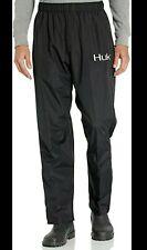 Huk Large Men's CYA Packable Black Packable Fishing Rain Pants!!! NEW!!! $31.99