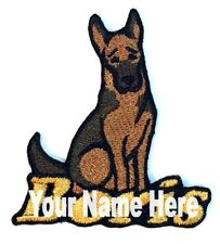 German Shepherd Dog Custom Iron-on Patch With Name Personalized Free