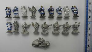 18 IMPERIAL TROOPERS SCOUTS Metal Laserburn 15mm Figures Asgard 1980s 96