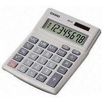 Casio MX8V Desk Calculator 8 Digit Angled Display Solar & Battery Dual Power New