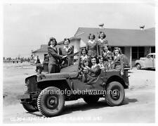 Photo. Ww2. Tyndall Field, Florida. Women in Jeep