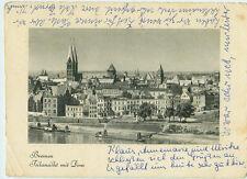 Alte Ansichtskarte Postkarte Bremen Teilansicht mit Dom s/w 1961