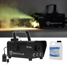 Rockville R720L Fog/Smoke Machine w/ Remote+Fluid+Multi Color LED Built In!