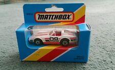 Matchbox Chevrolet Corvette-MB62 blanco y rojo 1979 como nuevo Macao + 1981 Caja Abierta