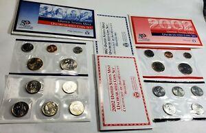 2002 P&D U.S. Mint Unc coin Set 20 Coins w/ COA 50 States Quarters
