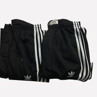 Lot of 2 Adidas Black Trefoil Athletic Workout Track Pants Men's Size 2XL