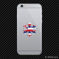 Hawaii Snowflake Cell Phone Sticker Mobile HI snow flake snowboard skiing skii