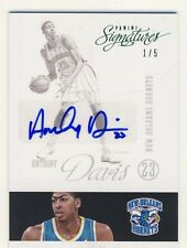 Anthony Davis 2012-13 Panini Signatures Variations Green Autograph Auto RC 1/5