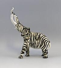 Estatuilla De Porcelana elefante grande como una cebra Fant H31cm 9942007