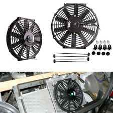 """Universal 12"""" Car Electric Radiator Cooling Fan Black Plastic with Mounting Kit"""