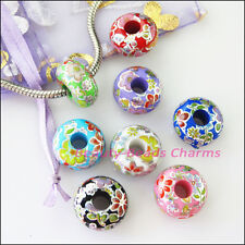 200 6mm Mixed Colour Acrylic Round Beads B030