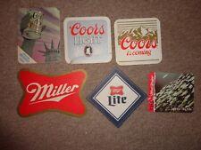 Beer drinks mats drip mats coaster COORS COLT 45 MILLER Milwaukee  job lot