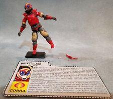 Vintage GI Joe Cobra-La Royal Guard Figure Hasbro (1987) - w/ File Card