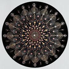 disc-mandala 7 / vinyl record mandala art handmade painting