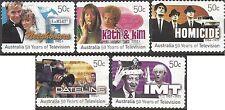 Australia 2006 TELEVISION 50th ANNIV Peel & Stick Fine Used (5) SG 2721-5
