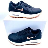 Nike Womens Air Max 1 Golf Shoes Black AQ0865-002 Low Top Lace Up 9.5 M New