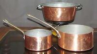 3 Copper Sauce Pans 2 METAUX Ouvres-Vesoul Art et Cuisine France ONE Santiq Inc