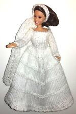 "KNITTING PATTERN FOR BARBIE, DISNEY PRINCESS, 12"" DOLL BRIDE, DRESS AND VEIL"