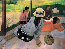 The Siesta by Paul Gauguin Fine Art Giclee Canvas Print