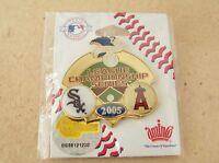2005 Chicago White Sox vs Anaheim Angels League Series pin A.L.C.S ALCS