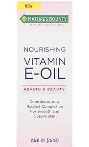 Nature's Bounty  Optimal Solutions  Nourishing Vitamin E Oil  2.5 fl oz  75 ml