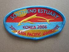 Southend Estuary Korea 2004 Cloth Patch Badge Boy Scouts Scouting L3K C